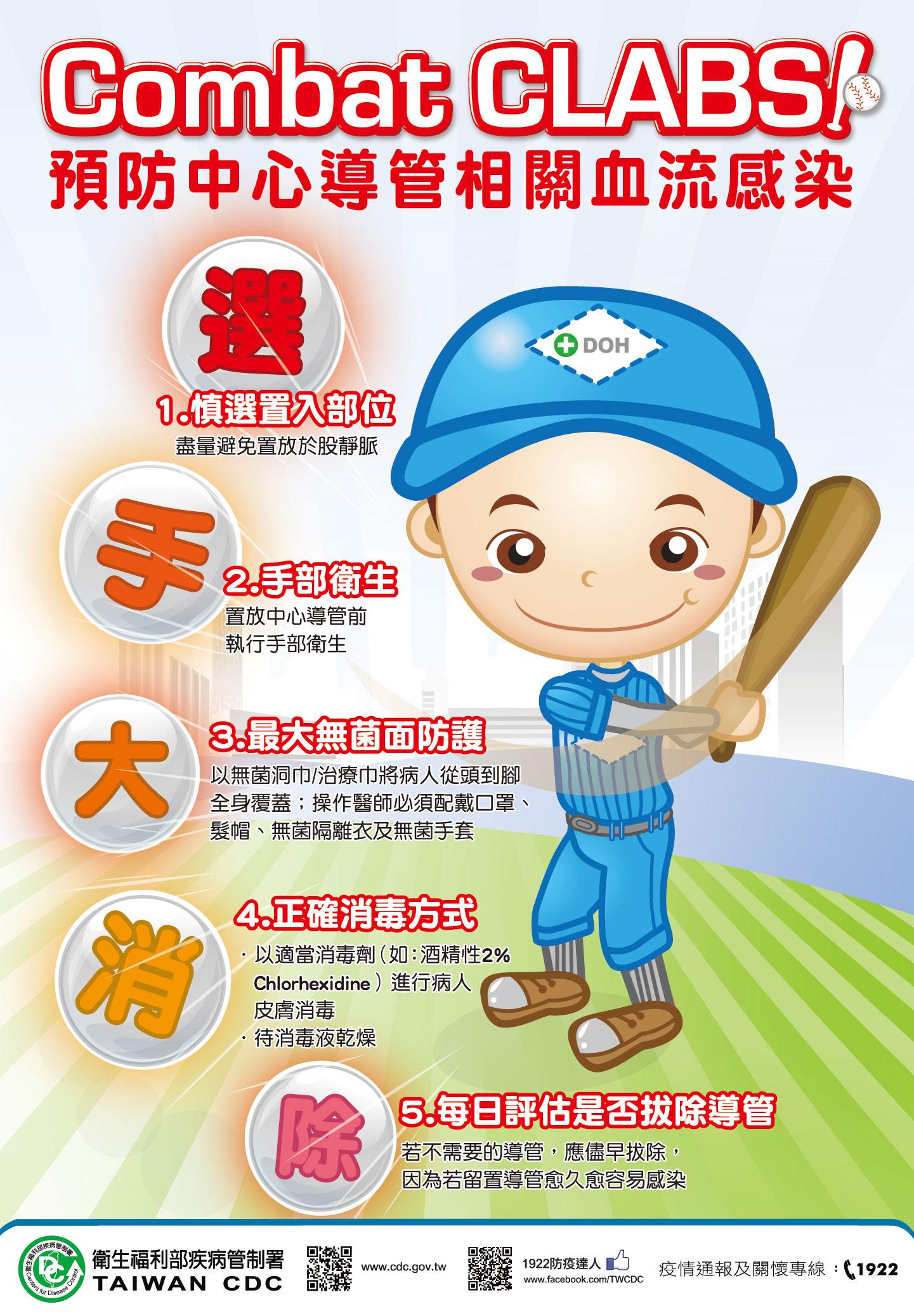 預防中心導管相關血流感染海報-2013年製(2013.05.08)