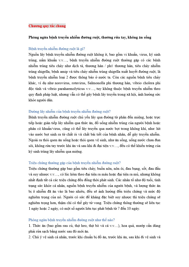 詳如附件【nhấp vào đây】Phòng ngừa bệnh truyền nhiễm đường ruột(Trang 1)預防腸道傳染病-通則(越文)