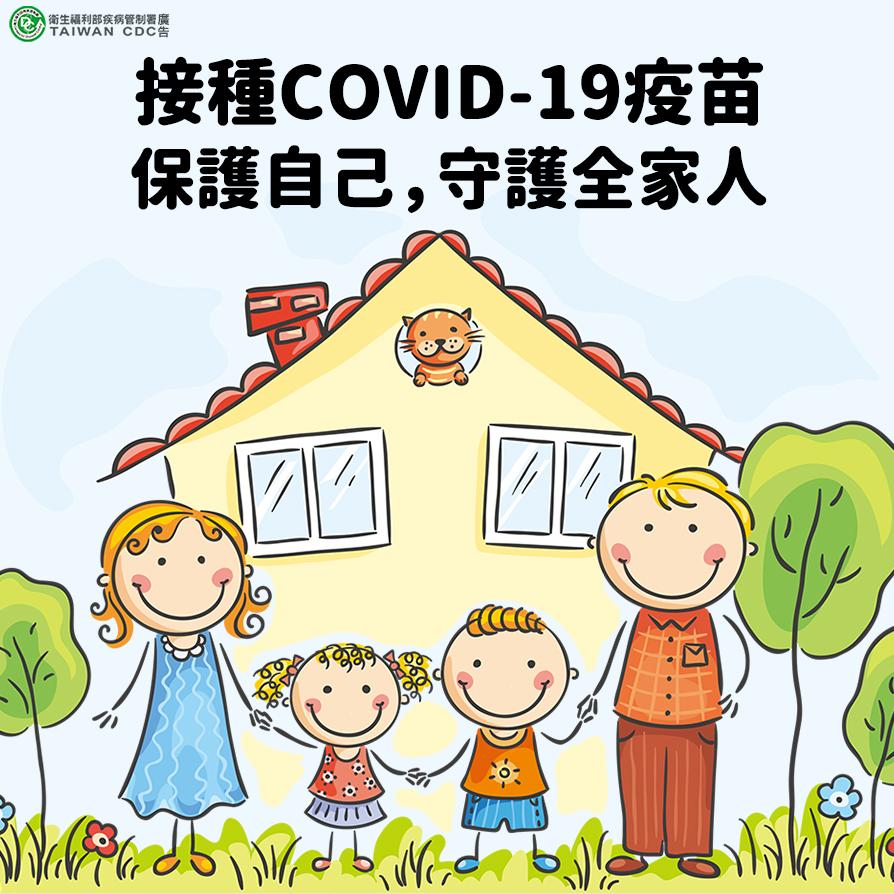 接種COVID-19疫苗 保護自己守護全家人
