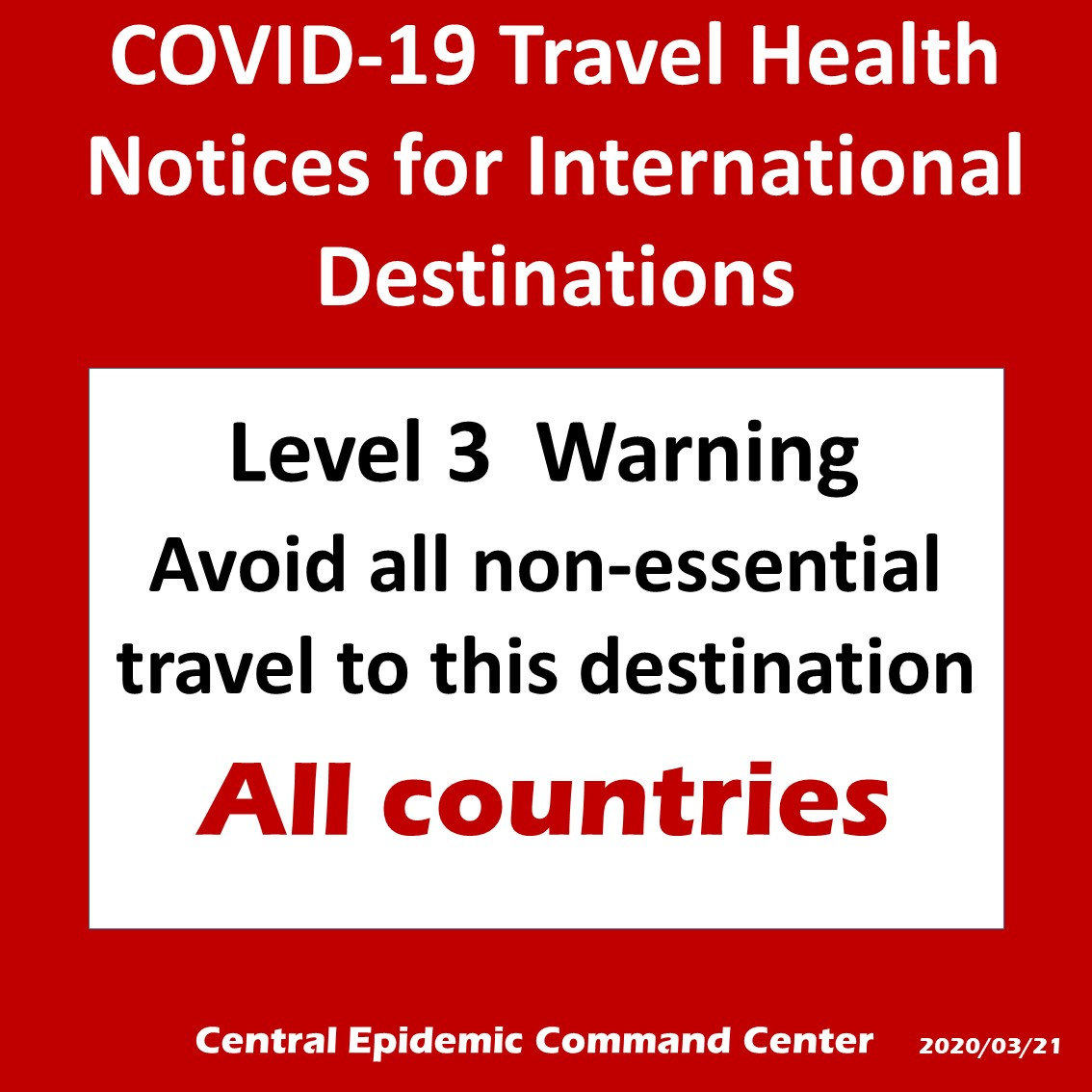 Travel Health Notices for International Destinations
