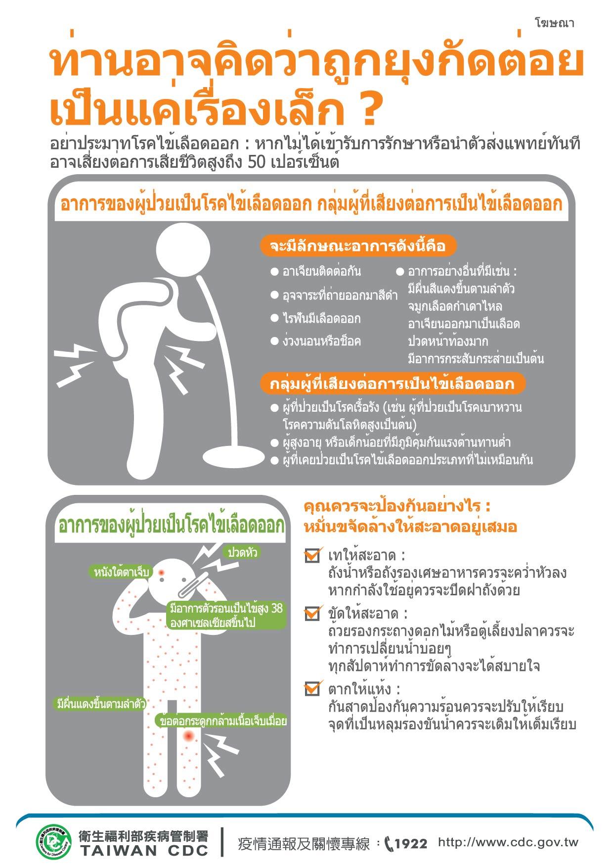 詳如附件【คลิก】การป้องกันโรคไข้เลือดออก登革熱預防(泰文)